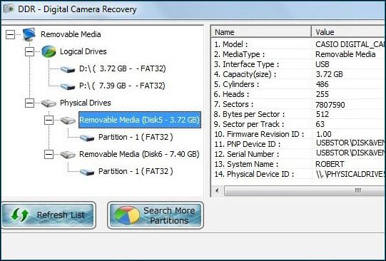Windows 7 Digital Camera Data Restore 5.3.1.2 full